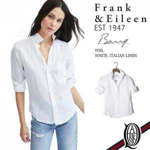 Frank&Eileen BARRY WHL レディースシャツ LINEN WHITE (フランクアンドアイリーン バリー)