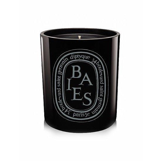 diptyque カラーキャンドル BAIES NOIR(ベスノアール/カシスの葉&ブルガリアローズ) 300g