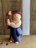 古型博多人形・猿持ち(86)
