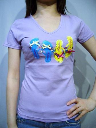 follettina girl 半袖Tシャツ ライトパープルM