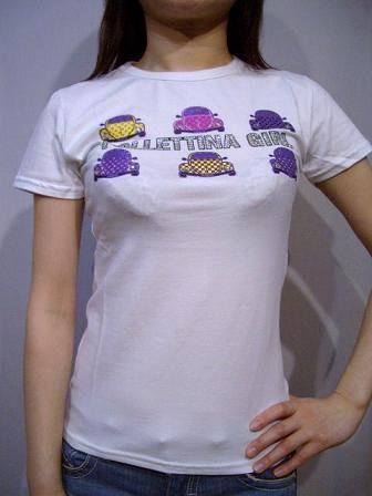 follettina girl 半袖Tシャツ carホワイトM