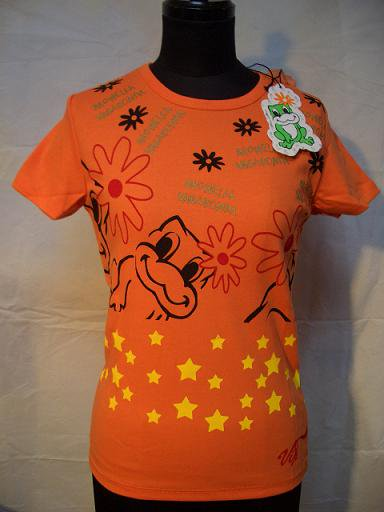 MONELLA VAGABONDA スター半袖Tシャツ オレンジ
