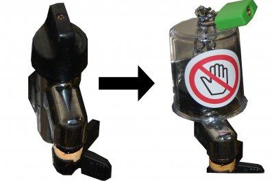 ガスの元栓(もとせん)用鍵ロック  ガス栓(せん)さわれま栓(せん) 南京錠セット