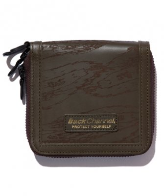 =-BackChannel-GHOSTLION CAMO LEATHER WALLET(17FW)