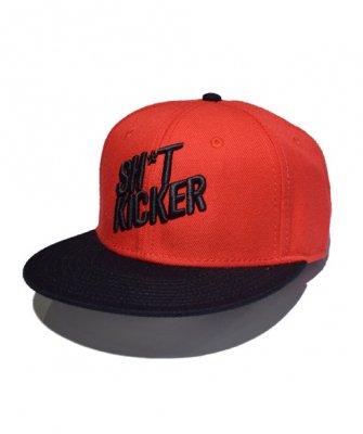 -SH*T KICKER-SLANTING LOGO BRED 2 TONE SNAPBACK CAP