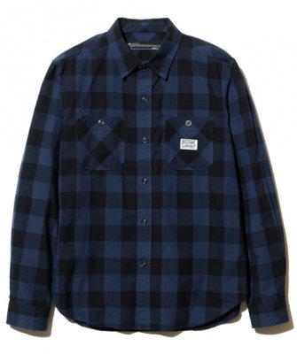 =-BackChannel-BLOCK CHECK SHIRT(18FW)