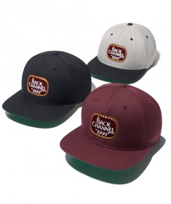 =-BackChannel-LABEL LOGO SNAP BACK(18SS)