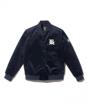 -BackChannel-VELOUR STADIUM JACKET