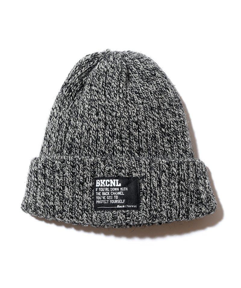 -BackChannel-SHETLAND WOOL KNIT CAP