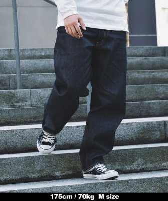 -Back Channel-NON WASH BAGGY DENIM