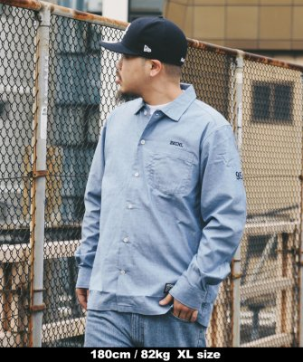 -Back Channel-DUNGAREE SHIRT