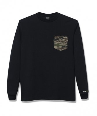 -Back Channel-GHOSTLION CAMO POCKET L/S T