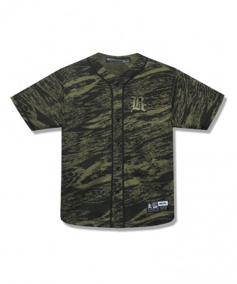 -BackChannel-GHOSTLION CAMO BASEBALL SHIRT