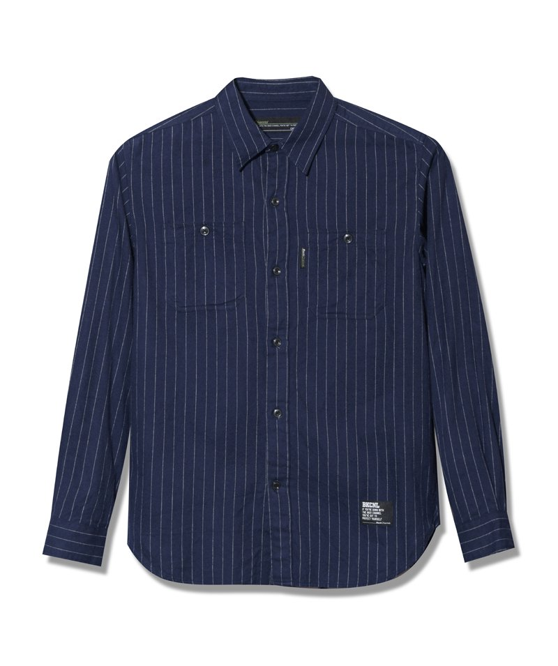 -Back Channel-STRIPE WORK SHIRT