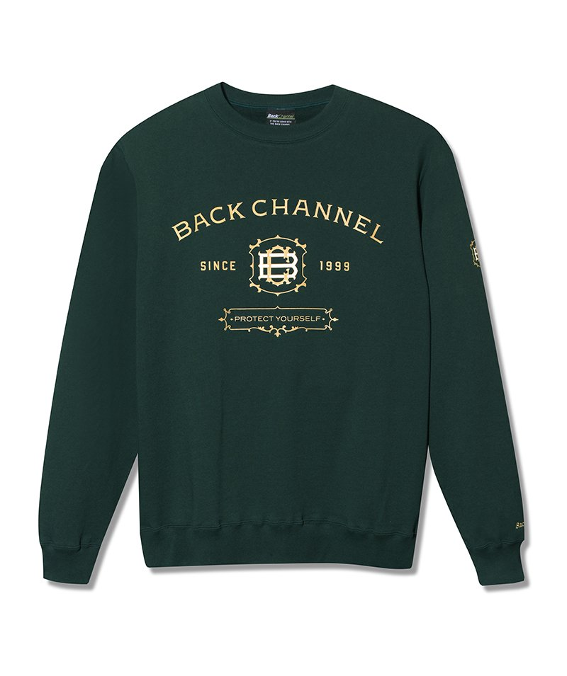 -Back Channel-LABEL CREW SWEAT
