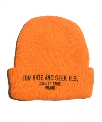 -Hide&Seek-For H.S. Rib Knit CAP