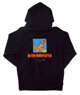-Hide&Seek-  Thermography Hooded Sweat Shirt