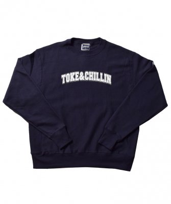 -PRILLMAL- TOKE&CHILLIN` !! : CREW NECK SWEAT