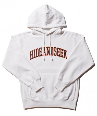 -Hide&Seek-  College Logo Hooded Sweat Shirt