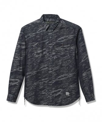 -Back Channel-JACQUARD DENIM SHIRT