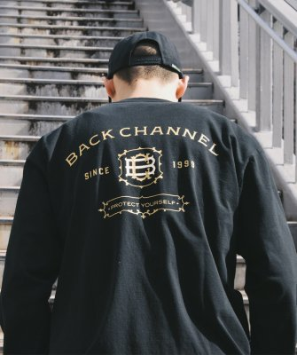 -Back Channel-LABEL LONG SLEEVE T