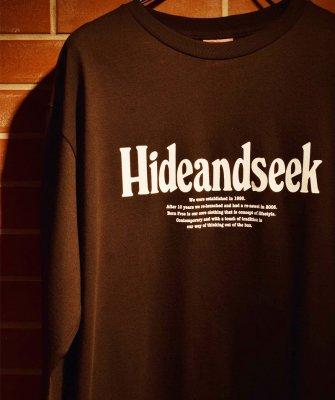 -Hide&Seek-Logo L/S Tee(21aw)