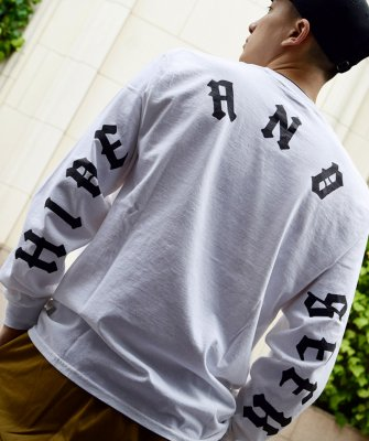 -Hide&Seek-Back Logo L/S Tee(21aw)