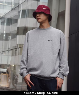 -Back Channel-ONE POINT CREW SWEAT