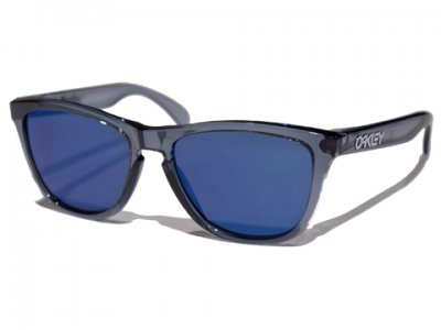 -OAKLEY-FROGSKINS (Crystal Black + Ice Iridium)