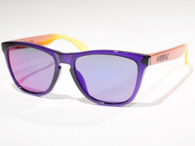 -OAKLEY-FROGSKINS SURF COLLECTION (Surf Purple w+Grey)