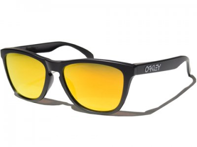 -OAKLEY-FROGSKINS CUSTOM (Matte Black +Fire Iridium)
