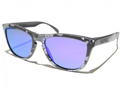 -OAKLEY-FROGSKINS INFINITE HERO FOUNDATION COLLECTION (Matte Carbon Camo / Violet Iridium)
