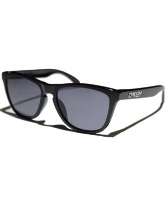 -OAKLEY-FROGSKINS (Polished Black + Grey)