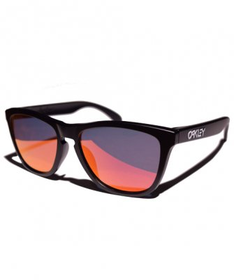 -OAKLEY-FROGSKINS CUSTOM (Matte Black + Ruby)