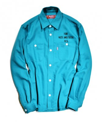 =-Hide&Seek-Heavy TWILL L/S SHIRT
