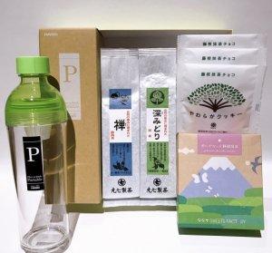 お茶(ミシュラン店で使用)とお菓子(抹茶菓子)とフィルターインボトル パーソナル(グリーン)のギフトセット
