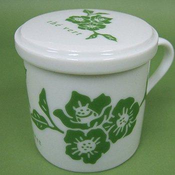 オリジナルデミタスカップ花緑
