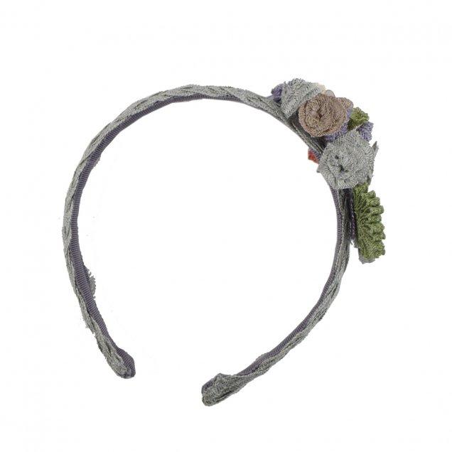 麻ブレード花のカチューシャ