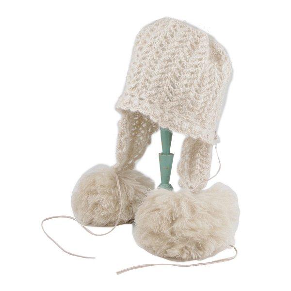 手編み風Bigボンボンフード