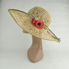 〔1点物〕ラフィアレース編み花飾りキャペリン