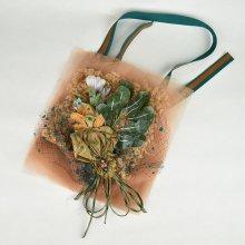 葉と蘭の束ネックレス