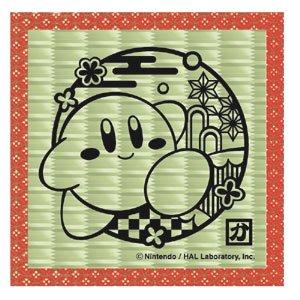 GS 星のカービィ 切り絵シリーズ 畳コースター(カービィAおさんぽ)