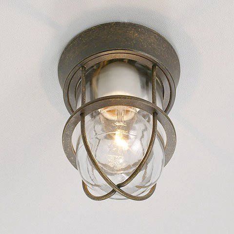 レトロデザイン 古色仕上げ真鍮灯