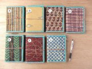 木版更紗の布張りノート・大