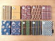 木版更紗の布張りノート・中