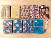 木版更紗の布張りノート・小