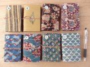 木版更紗の布張りノート・ミニ