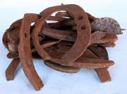 錆びた馬の蹄鉄