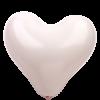 不二ラテックスハートバルーン(自然素材)11インチ(28cm)ホワイト25個