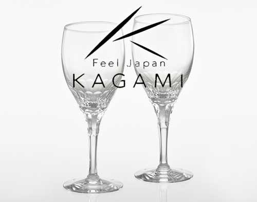 エクラン/赤 ペアワイングラス [KWP274-2533]|カガミクリスタル